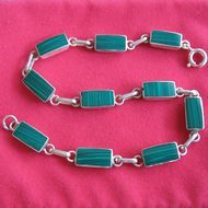 Bracelet Malachite �rectangulaire�